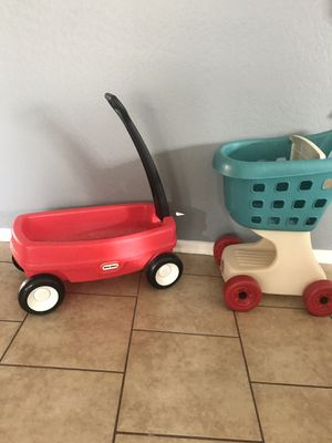 Little tikes and step 2 wagon and shopping cart for Sale in Surprise, AZ