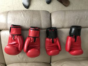 Punching bag with 4 12oz gloves. for Sale in Wimauma, FL
