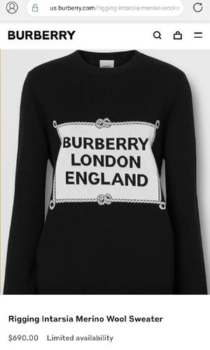 Burberry $690 retail priced, authentic wool sweater! for Sale in Seattle, WA