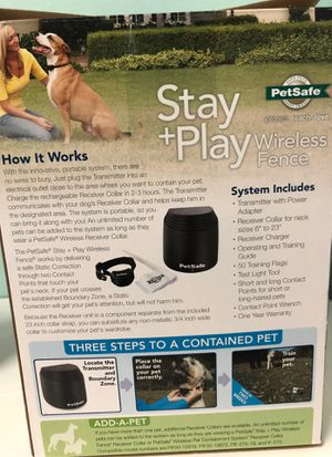 PetSafe wireless fence system for Sale in Port St. Lucie, FL