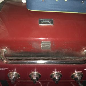 Bbq Propane Grill,4 Burner, Red Color for Sale in Henderson, NV