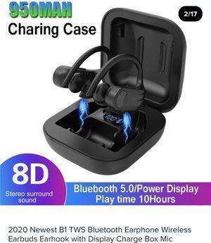 VITOG B1 Bluetooth 5.0 Earphone Sports Waterproof True Wireless Headphones Ear Hook Stereo for Sale in Dallas, TX