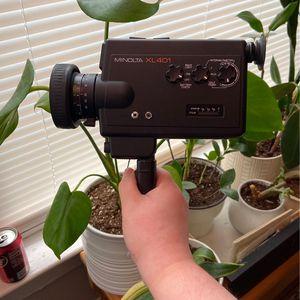 vintage minolta xl401 super 8 video camera with original manuals for Sale in Portland, OR