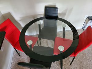 4 chair Glass dinning set for sale for Sale in Laurel, MD