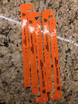 Infield wristbands for CA speedway 2/28-3/1 for Sale in Fontana, CA