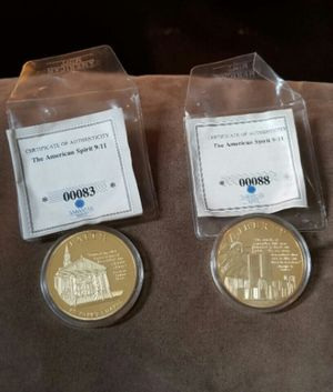 Liberty Remembering 9/11 Commemorative Coin (2) for Sale in Newport News, VA