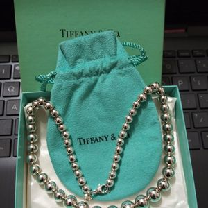 A BEAUTIFUL AUTHENTIC TIFFANY & CO STERLING SILVER BEADED NECKLACE 18 LONG for Sale in Manassas, VA