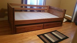 Twin Oak Captains Bed 2 Drawer Storage No Mattress for Sale in Mount Prospect, IL