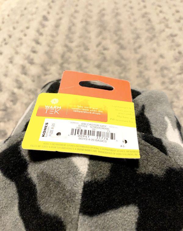New! Boys TEK Gear camo hat size 8-20 fleece hat. Super warm new with tags!