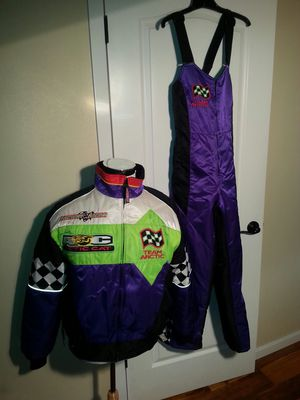 3 in 1 Arctic Cat racing snowmobile outfit two jackets Plus snow bibs women's excellent condition best of all made in the USA for Sale in Kalama, WA