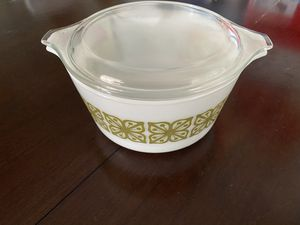 Pyrex autumn floral verde 1 quart dish for Sale in Frankfort, KY