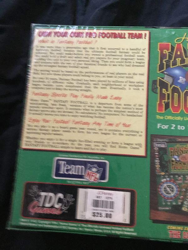 Fantasy Football Board Game NEW