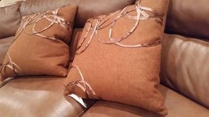 (2) Burnt Orange Pillows for Sale in Ashburn, VA