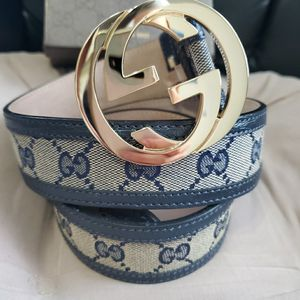 💥NWT Gucci Belt Blue Trim Tan Monogram Gold GG for Sale in Queens, NY
