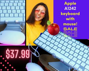 Apple A1242 wired compact Keyboard w/Mouse. for Sale in North Saint Paul, MN