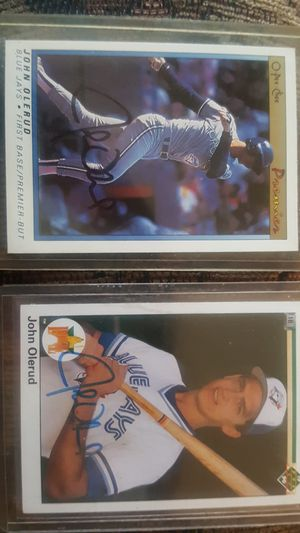 Authentic signed John Olerud baseball cards for Sale in Stanwood, WA