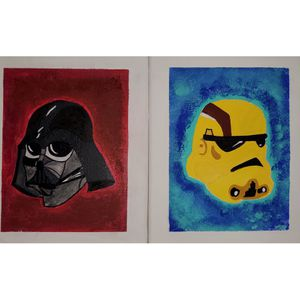 Darth Vader & Storm Trooper painting for Sale in Oakland, CA