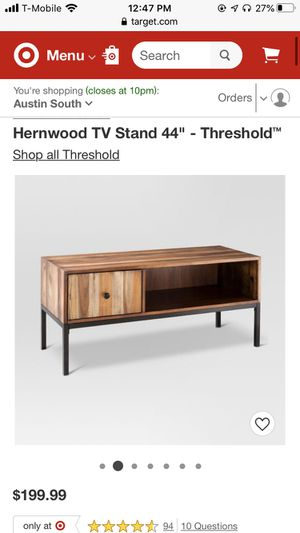 Hernwood TV Stand - Threshold - Target for Sale in Austin, TX