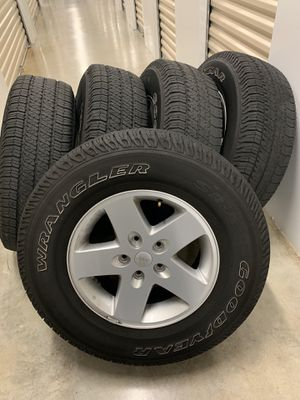 Jeep Wrangler wheels and tires for Sale in Leesburg, FL