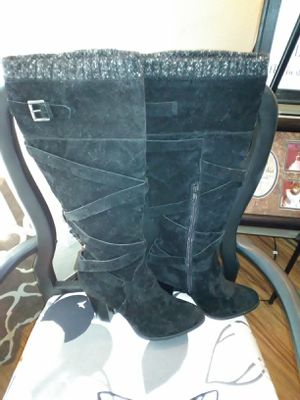 Black suede buckle boots for Sale in O'Fallon, IL