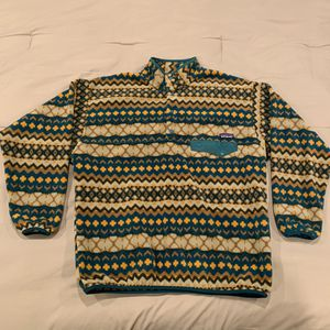 RARE Mens Patagonia Snap T Synchilla Pullover Fleece Jacket Cliff Arbor Green XL for Sale in Everett, WA