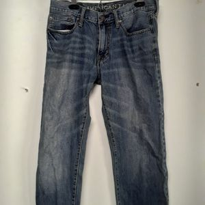 Mens american eagle jeans original straight size 30x34 for Sale in Tacoma, WA
