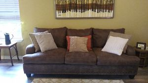 Brown soft leather sofa for Sale in Corpus Christi, TX