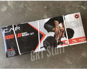 CAP Barbell 100 LB Vinyl Weight Set - Includes Bar, Plates & Collars for Sale in Modesto, CA