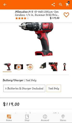 Milwaukee M18 hammer drill driver tool only for Sale in Greenville, SC