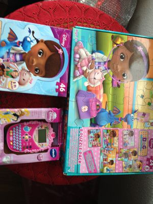 Doc McStuffins puzzles and game for Sale in Tacoma, WA