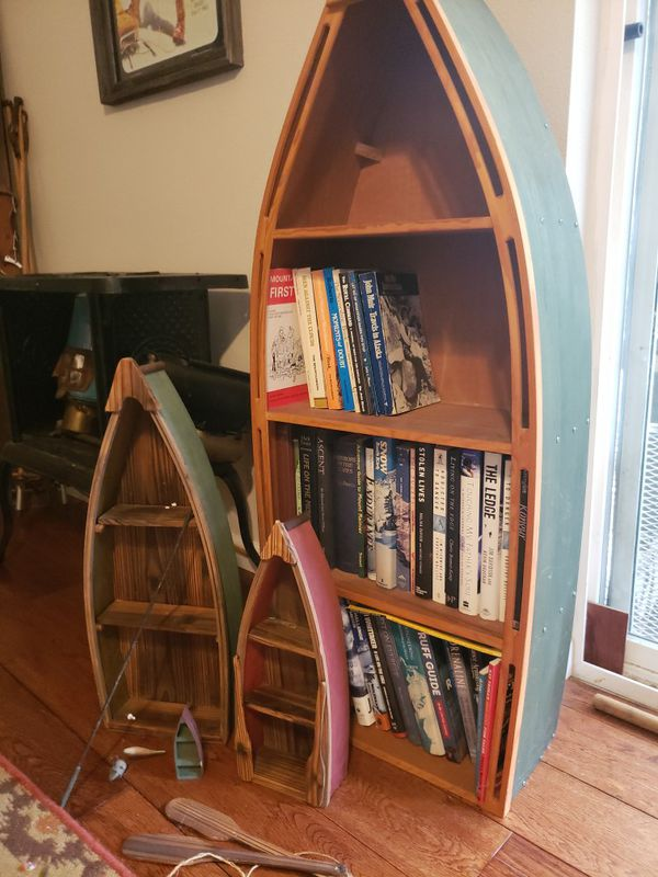 Boat Bookshelf Display Set