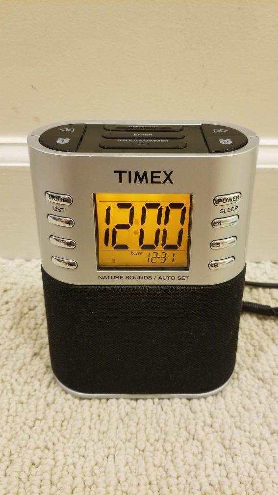 Timex Auto Set AM/FM Alarm Clock Radio with Nature Sounds ~ T308S
