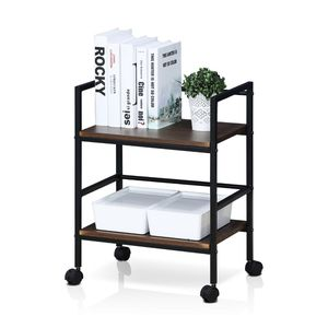 Furinno Modern Storage Cart with Casters, Dark Walnut for Sale in Apex, NC