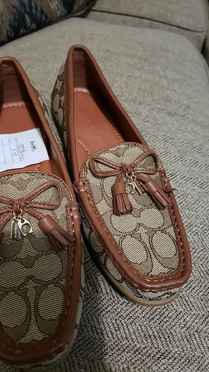 Shoes coach tan for Sale in Suffolk, VA