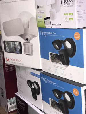 Brand new ring flood lights cam asking $189each new in box retail for $250each for Sale in Glendale, AZ