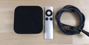 Apple TV 3rd Generation + TV Remote + Power Cord for Sale in Virginia Beach, VA