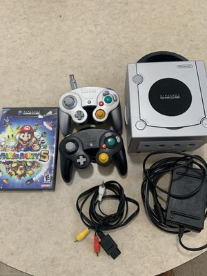 GameCube with 2 controllers and Mario Party for Sale in Tucson, AZ