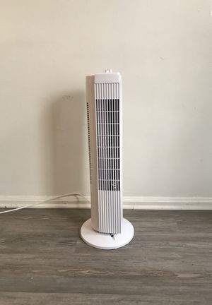 Mainstays FZ10-19MW 28 Inch Tall 3 Speed Compact Oscillating Tower Fan, White for Sale in Los Angeles, CA