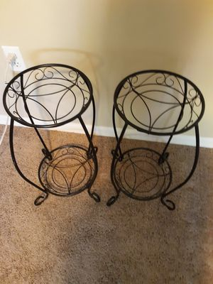 2 ft. Black Metal Plant stands for Sale in Apopka, FL