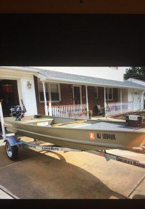 2017 Tracker Topper Jon Boat/ 9.9 Mercury/ Load rite Trailer (Like New for Sale in Pennsville, NJ