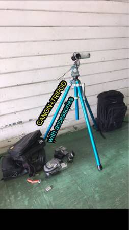 Camera and tripod firm price for Sale in Los Angeles, CA