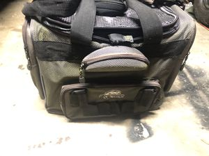 Tackle bag/box has 7-8 containers for Sale in Houston, TX