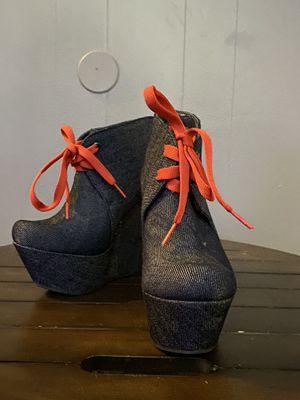 Andrea High Heel Wedges Black Size 6 for Sale in Fullerton, CA