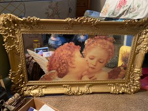 Antique cherub mirror for Sale in Jurupa Valley, CA