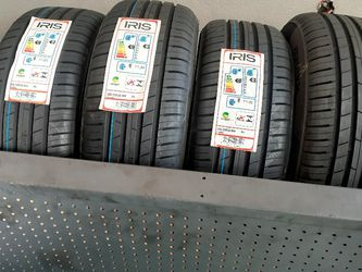 SET DE LLANTAS 215 60R16. MARCA IRIS INSTALCION Y BALANCE $ 255 LAS 4 for Sale in Lakewood,  CA