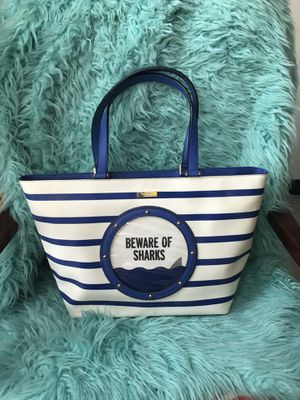 """Kate Spade ♠️ """"Beware of Sharks"""" Large Tote/Purse for Sale in Seattle, WA"""