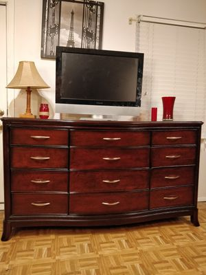 """Nice big wooden dresser/ TV stand with 12 drawers in very good condition, all drawers sliding smoothly. L68""""*W20""""*H38"""" for Sale in Annandale, VA"""