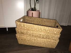 3 pottery barn under-bed baskets for Sale in San Diego, CA