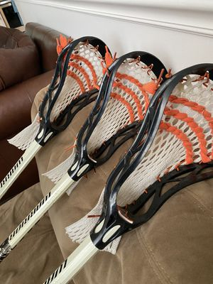 """3 - 41"""" Gently Used Warrior Torch Mens Lacrosse Sticks for Sale in Chicago, IL"""