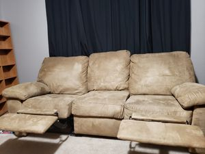 Brown reclining couch for Sale in Murfreesboro, TN